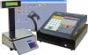 Obchodní systém LUPA NET s dotykovou pokladnou CHD 8800, čtečkou čárových kódů a etiketovací váhou.