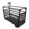 Mobilní dobytčí váha BW na prasata do 150 kg, lak, madla a velká kola